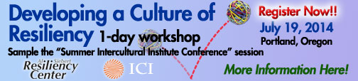 The Power of Resilience Conference banner, July 19, 2014